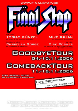 Plakat Goodbye Comeback Tour 2006 250
